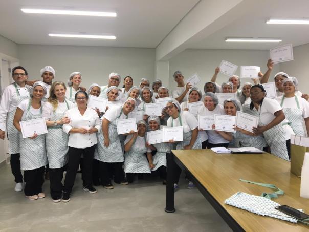 Formandos do curso de gastronomia