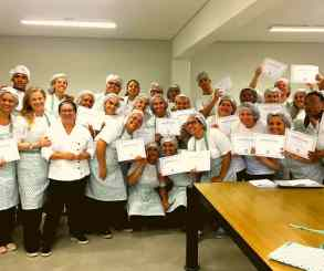 Formatura no curso de gastronomia Vila Cuore