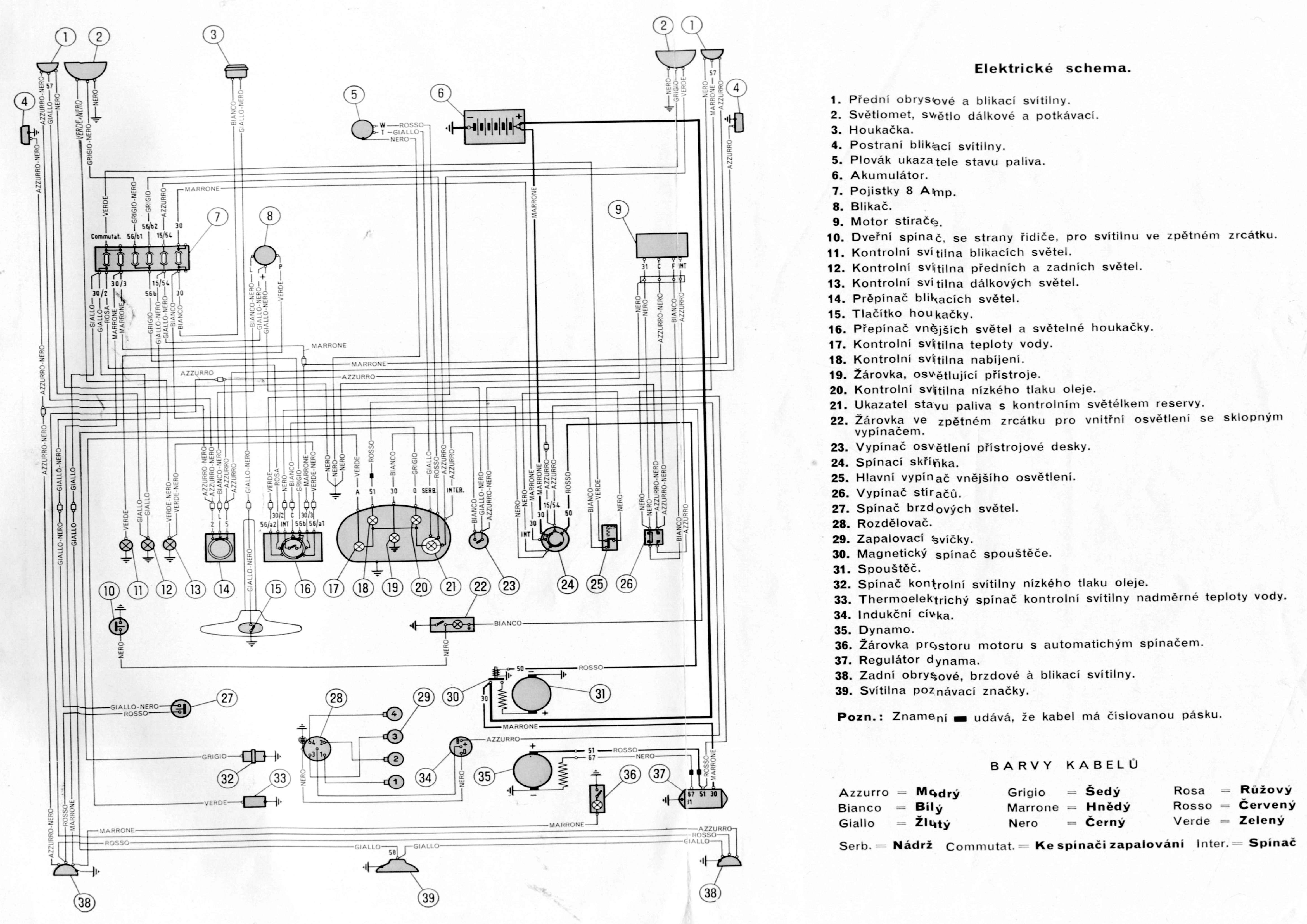 alfa romeo diagrama de cableado de lampara