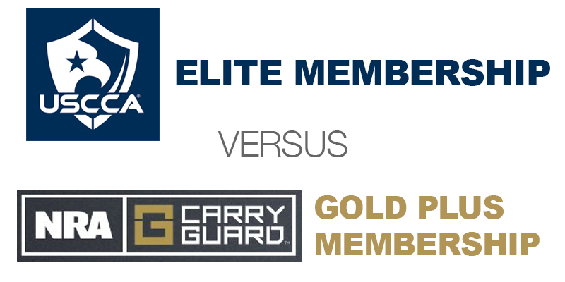 USCCA Elite CCW Insurance Versus NRA Carry Guard Gold Plus