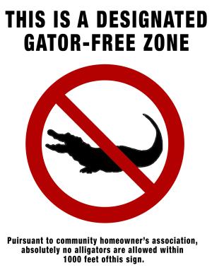 Gator-Free Zone