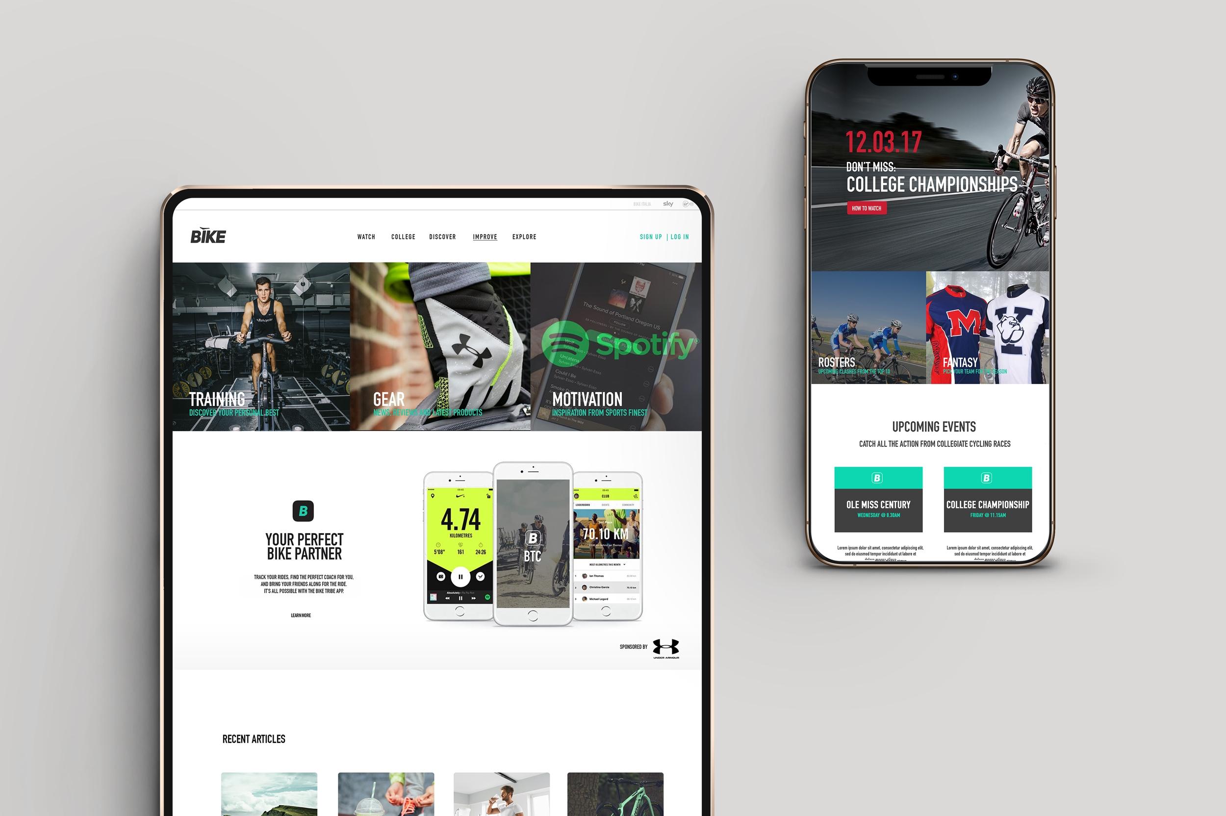 Bike channel web design