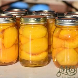 Pfirsiche in Einmachgläsern aufbewahren