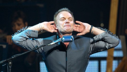 Musician Sting performs on the opening night of his Symphonicity Tour in Vancouver