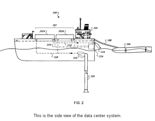 google floating data centre patent