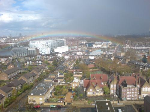 rainbow over battersea
