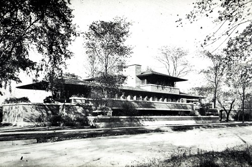 1910: The roof of the Robie House
