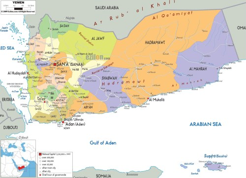political-map-of-Yemen