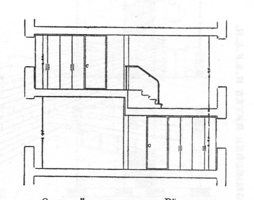 B-type section through 2 floors