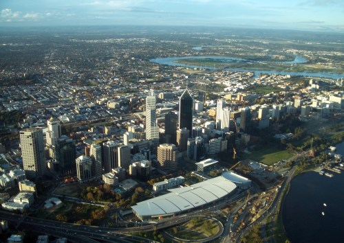 Perth_CBD_from_air