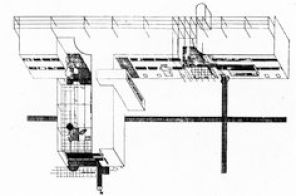 (with Moisei Ginsberg) Competition Design for the Kazakhstan Government House, Almaty, Kazakhstan, 1928