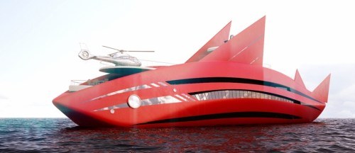Super-yacht-Red-Shark-concept