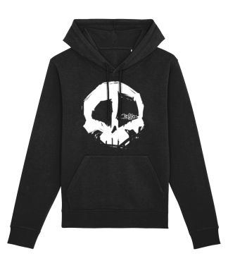 Misfits Inc Black White Skull Hoodie Print Hoodies Skulls Hooded Sweater Organic ECO Sustainable Clothing