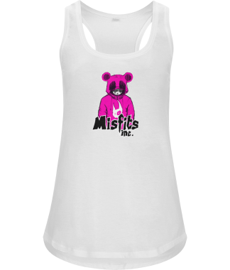 White Vest - T-Shirt - Organic Cotton - White Vest - Misfits - Misfits Inc Black White Sugar Pop Pink