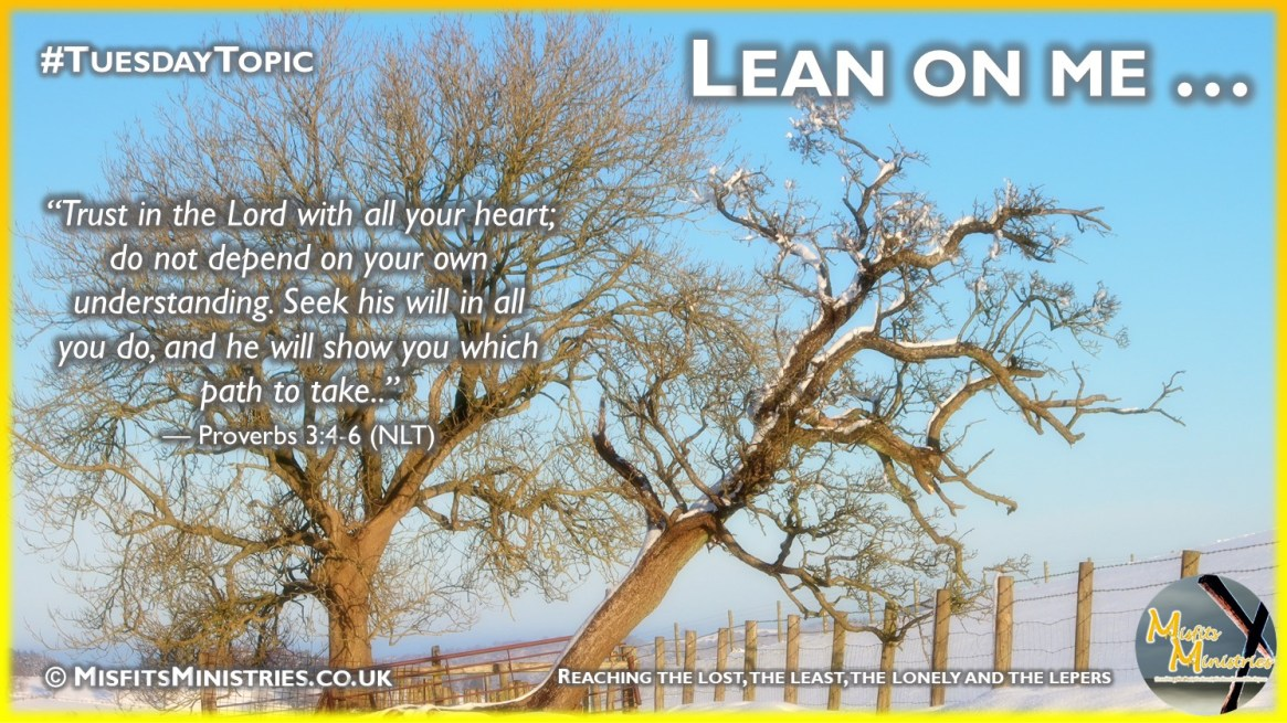 Tuesday Topic 2021wk02 - Lean on me