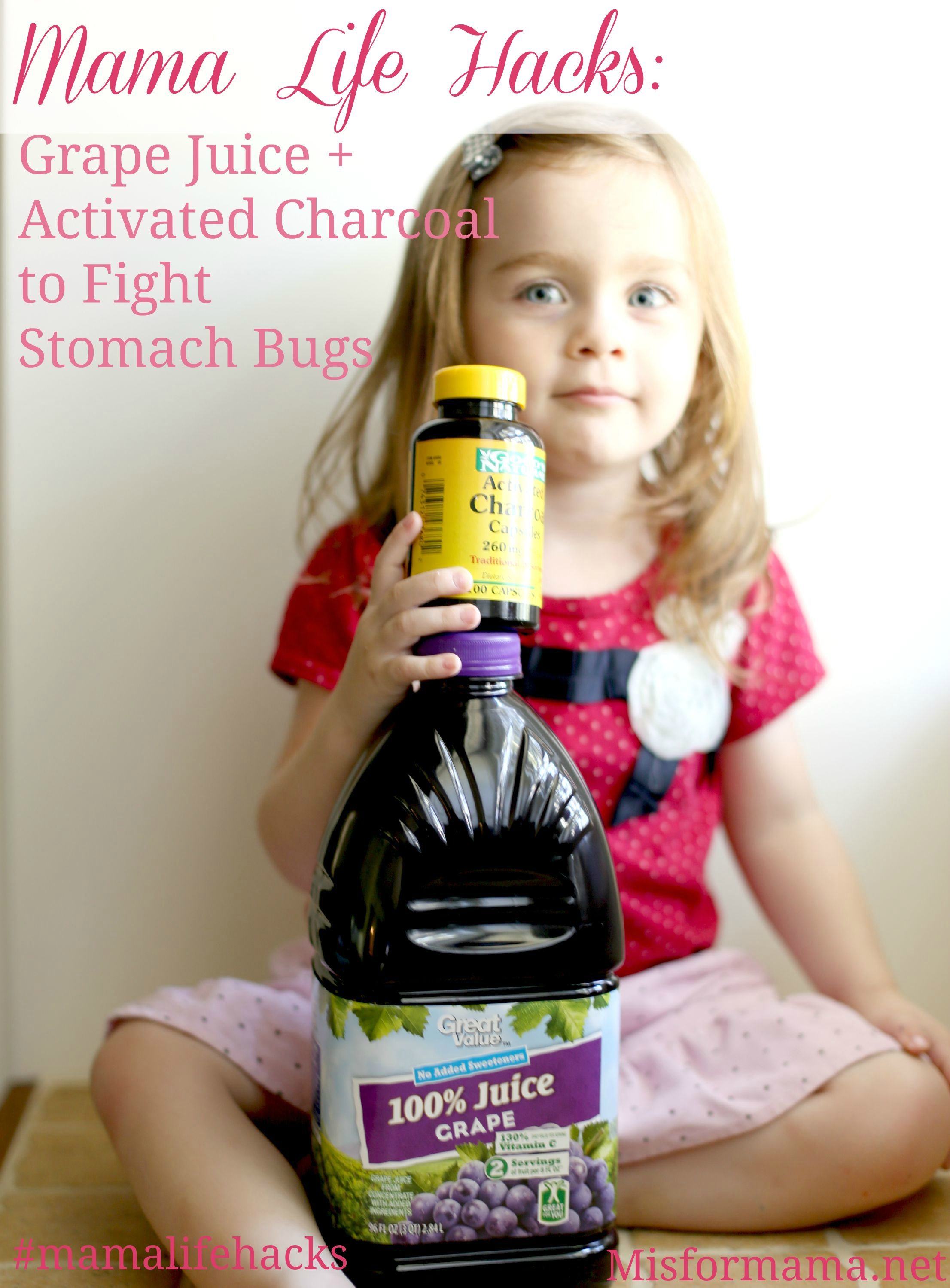 Mama Life Hacks {#11}: Grape Juice + Activated Charcoal to Combat ...