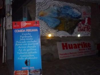 Cocina peruana Huarike