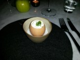 Huevo con arrope de chañar