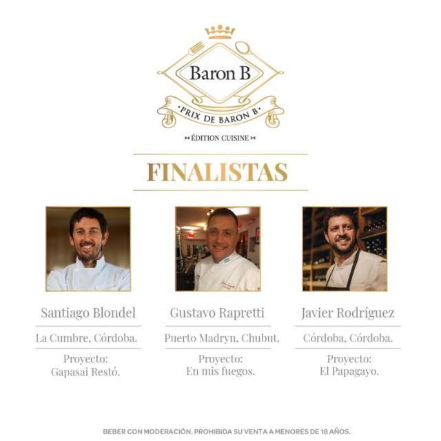 Referentes de Córdoba finalistas del Prix de Baron B 2019