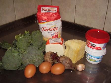 Canelones de brocoli, ricota y parmesano