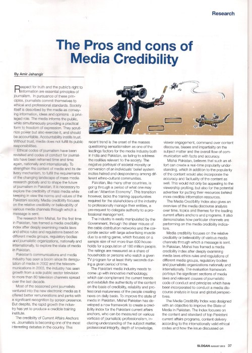 The Pros and Cons of Media Credibility