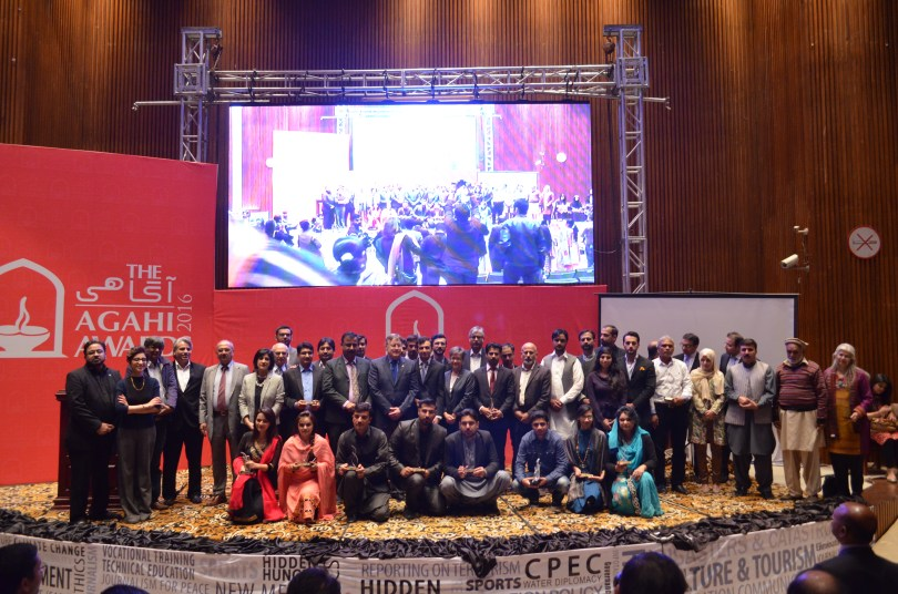 Winners of the AGAHI Awards 2016 with the Guests of Honors
