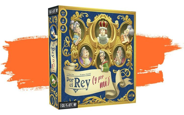 Caja del juego Por el Rey en español.