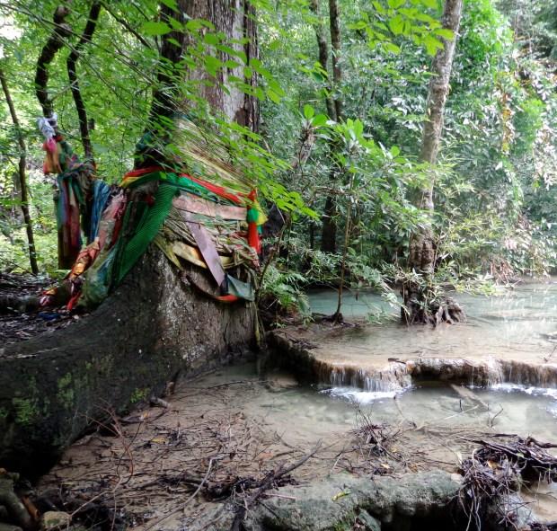 Erawan Falls in Thailand