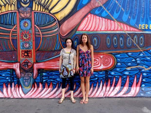 Taking photos at the Berlin Wall