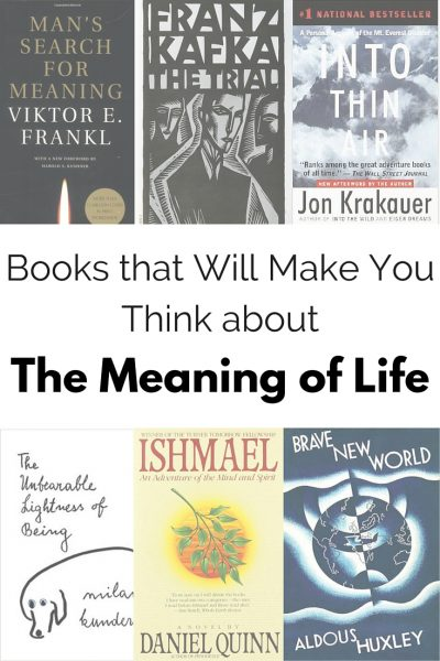 Books that will make you think about the meaning of life