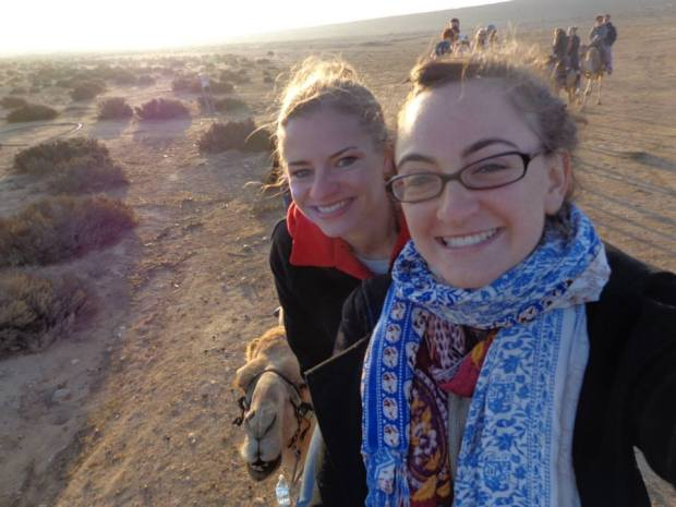 Riding a Camel in the Negev selfie