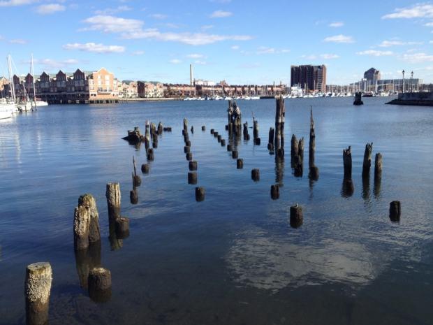 Walking along the Waterfront Promenade in Baltimore