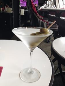 A martini at the 13th Floor Bar in the Belvedere Hotel in Baltimore