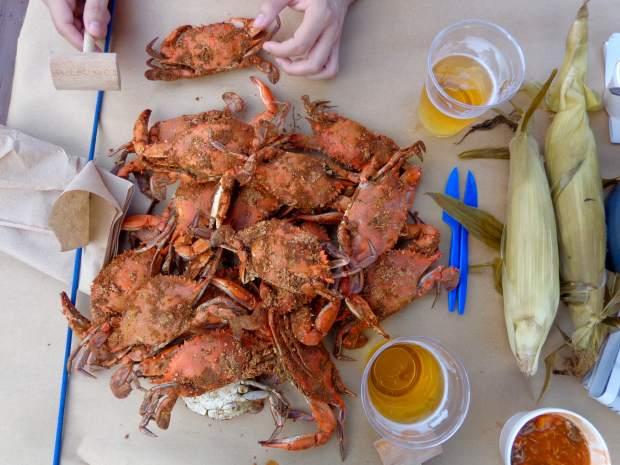 Smashing crabs in Baltimore