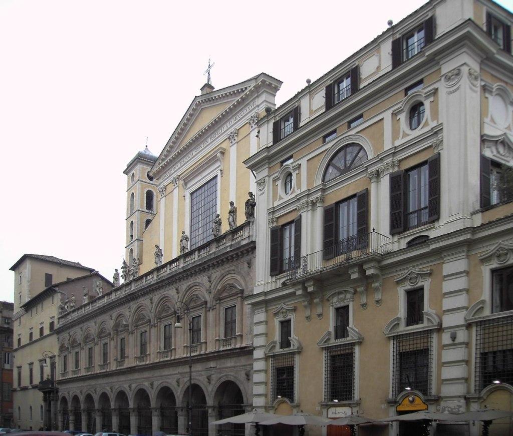 Roma, piazza santi Apostoli: palazzo Colonna e prospetto della basilica. Autor: Lalupa