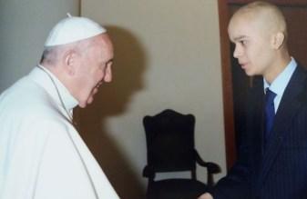 Pedro y el Papa Francisco