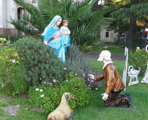 Imagen de Ntra Sra de la Guardia en Bernal, Bs As Argentina, bendecida por el Padre Marco