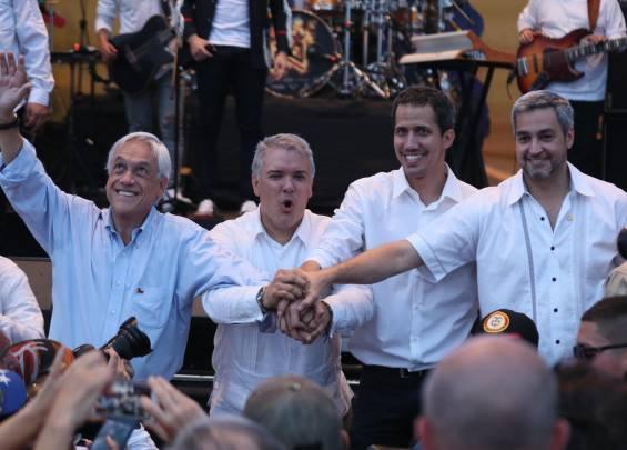 Presidente Piñera, Duque, Guaidó y Abdó