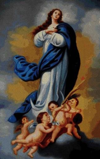 Grafico de punto de cruz de la Virgen Inmaculada