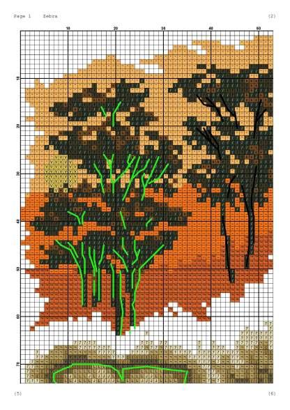 Pagina del grafico de punto de cruz AFRICA-1