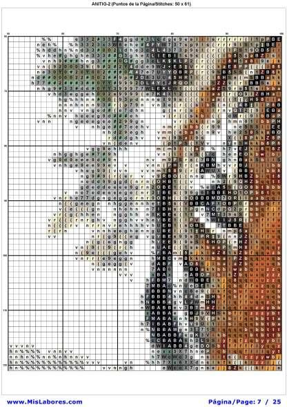 Pagina del grafico de punto de cruz ANITIG-2