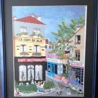 """VENTA DE BORDADO A PUNTO DE CRUZ con dibujo de calle """"típicamente francesa"""""""