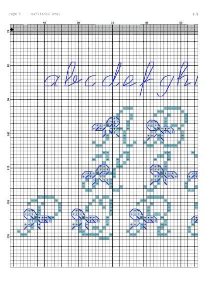 Página del gráfico de punto de cruz NATALICIO-3