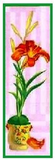 IRIS-1: Panamá ó cañamazo con dibujo impreso de flor Iris (lirio), para bordar a punto de cruz o petit point