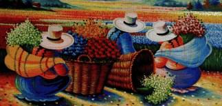 ARPERU: bordado a punto de cruz de pintura peruana