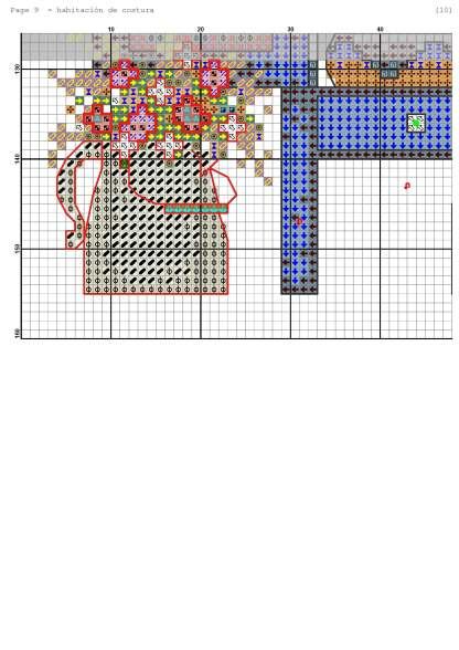 Página del gráfico de punto de cruz HOGSEW-1