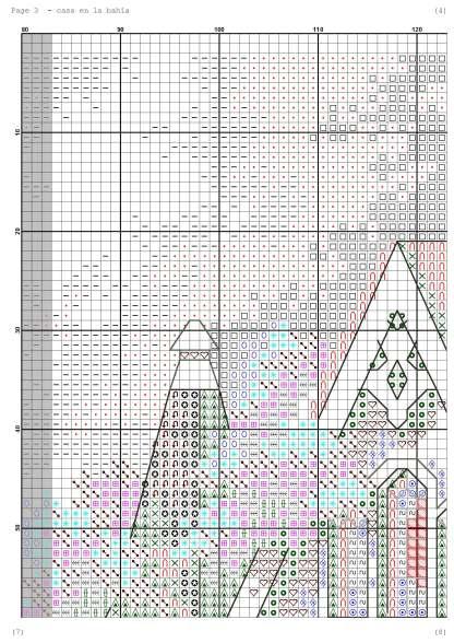 Página del gráfico de punto de cruz PAJCASA-4