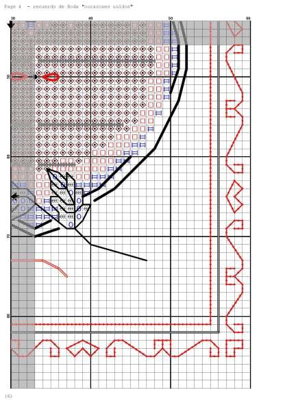Página del gráfico de punto de cruz WEDDING-5