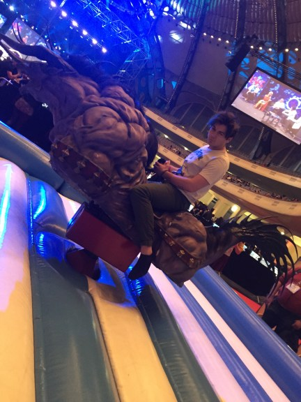 My friend's boyfriend on the Behemoth bull :p