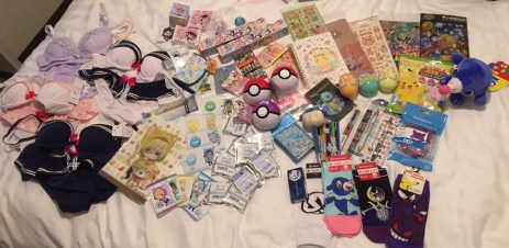 All the shopping goods from Namja Town, the Pokemon Center and Takeshita Street